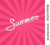 text summer on pink background  ...   Shutterstock . vector #442474948