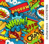 multicolored comics speech... | Shutterstock . vector #442478986