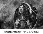 indian woman hunter | Shutterstock . vector #442479583