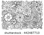 black and white flower pattern...