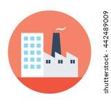 factory vector icon | Shutterstock .eps vector #442489009