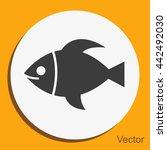 fish vector icon | Shutterstock .eps vector #442492030