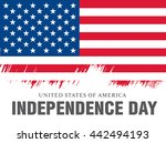 independence day of the united... | Shutterstock .eps vector #442494193