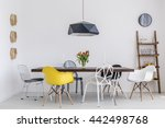 shot of a creative dining room... | Shutterstock . vector #442498768