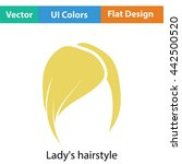 lady's hairstyle icon. flat...