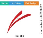 hair clip icon. flat color...