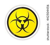 bright biohazard modern icon...