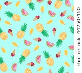 seamless pattern with... | Shutterstock . vector #442507150
