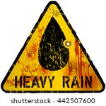 heavy rain warning sign   vector | Shutterstock .eps vector #442507600