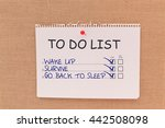 To Do List  Wake Up  Survive ...
