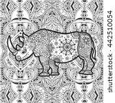 Ornament Rhino Vector....