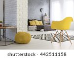 spacious bedroom with white... | Shutterstock . vector #442511158