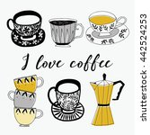 i love coffee. print design | Shutterstock .eps vector #442524253