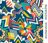 seamless pattern of geometric... | Shutterstock .eps vector #442526596
