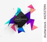 geometric vector background.... | Shutterstock .eps vector #442527094