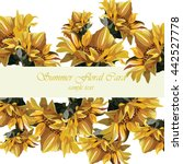 Sunflower Vector Card. Summer...