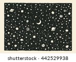 night sky. space with stars and ... | Shutterstock .eps vector #442529938