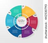 vector circle infographic... | Shutterstock .eps vector #442530793