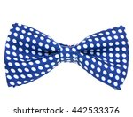 Blue Bowtie With Dotted Pattern ...