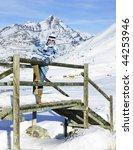 woman in winter mountains | Shutterstock . vector #44253946