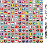 flags of the world. 144 correct ... | Shutterstock .eps vector #442544698