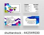 geometric business cards... | Shutterstock .eps vector #442549030