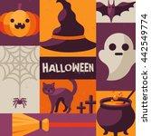 halloween creative poster....   Shutterstock .eps vector #442549774