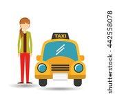 taxi service design  | Shutterstock .eps vector #442558078