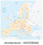 member states of the european... | Shutterstock .eps vector #442558360