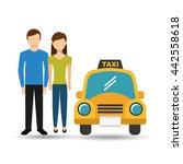 taxi service design  | Shutterstock .eps vector #442558618