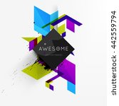 geometric vector background.... | Shutterstock .eps vector #442559794