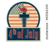 4th july emblem vector... | Shutterstock .eps vector #442562143