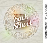 vector back to school text and... | Shutterstock .eps vector #442570000