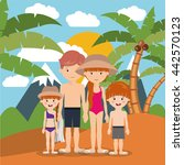 summer vacations in family... | Shutterstock .eps vector #442570123