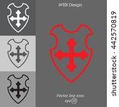 web line icon. shield. | Shutterstock .eps vector #442570819