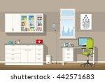 illustration of a doctor office | Shutterstock .eps vector #442571683