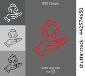 web line icon. three round... | Shutterstock .eps vector #442574650