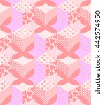 seamless patchwork pattern with ... | Shutterstock . vector #442574950