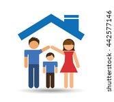 family home design    Shutterstock .eps vector #442577146