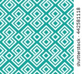 classic greek pattern 2 teal | Shutterstock .eps vector #442581118