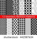 collection of vector seamless... | Shutterstock .eps vector #442587634