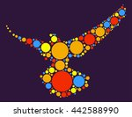 pigeon shape vector design by... | Shutterstock .eps vector #442588990