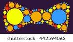 tie shape vector design by... | Shutterstock .eps vector #442594063