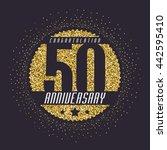 fifty years anniversary... | Shutterstock .eps vector #442595410