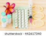 birth control pills  injection... | Shutterstock . vector #442617340