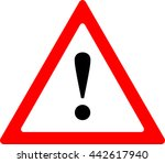 warning sign | Shutterstock .eps vector #442617940