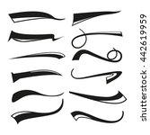 hand lettering underlines lines ... | Shutterstock .eps vector #442619959