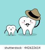 vector of cute healthy white... | Shutterstock .eps vector #442622614