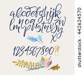 vector alphabet. hand drawn... | Shutterstock .eps vector #442624570