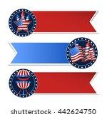vector ribbons illustration 4...   Shutterstock .eps vector #442624750
